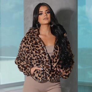 65a68452f2db Style Link Miami Jackets & Coats | Leopard Faux Fur Bomber Jacket ...